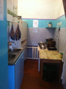Group kitchenette before repair