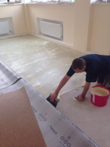 floor during repair