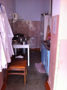 kitchenette before repair