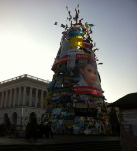 Weihnachtsbaum auf dem Maydan 2013