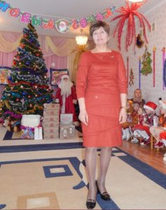 Olga is wishing happy new year to her children and colleagues