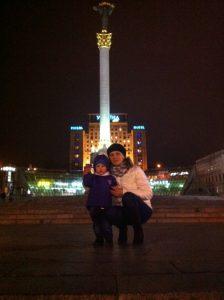 Artem at Maydan with his nurse