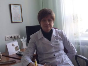 Olga at her office