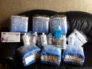 diapers sent to ZuBS