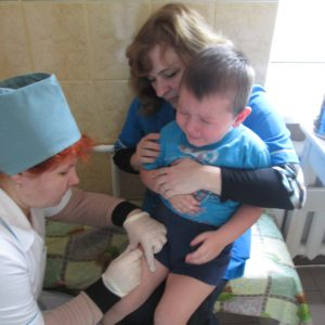 children are being vaccinated at KrBH