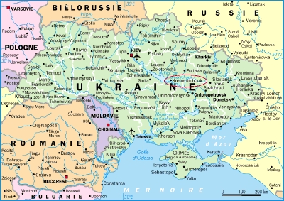 First Visit To Kremenchuk Baby House LAdS - Kremenchuk map